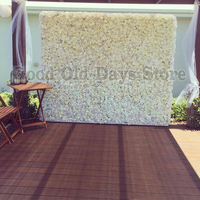 Ivory wedding flower wall flower backdrop with aluminum pipe stand Wedding stage decoration