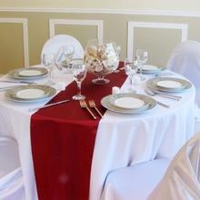 Colorful Plain Satin Table Runner