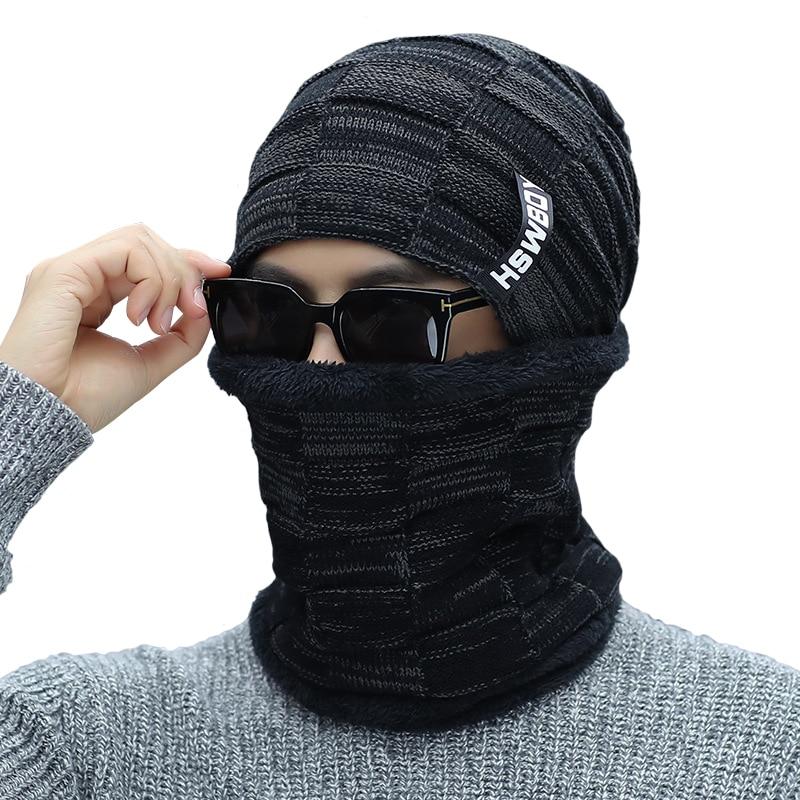 Bingyuanhaoxuanthikening Gorro de lana de punto para hombre Gorro de  invierno mantener el sombrero cálido pasamontañas 4c640d7ab24
