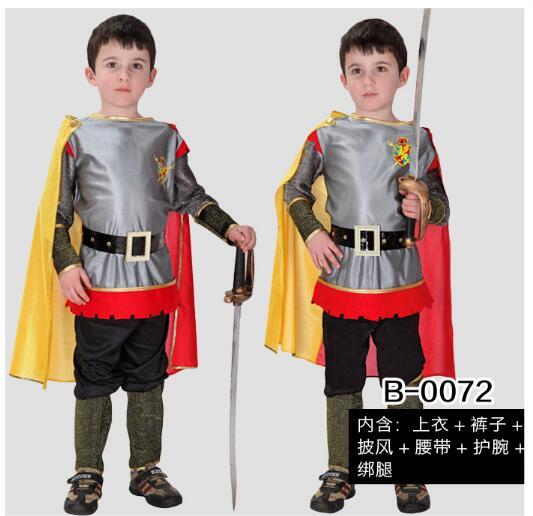 Хэллоуин Мальчика Костюм Гладиатора Древнеримские опытный боец средневековый воин детская Карнавальная одежда в шоу на сцене