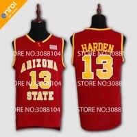 ASU James Harden Basketball Jersey Arizona State University 13 White Red Yellow Retro Throwback Stitched Sewn