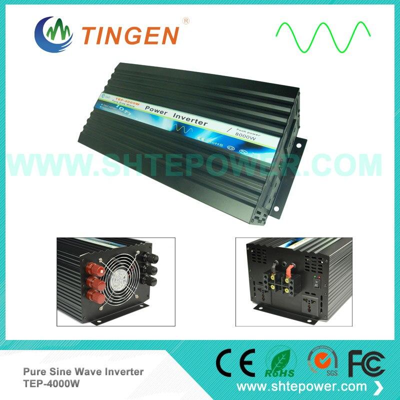 цена на 48V 4000W power inverter DC input 12V 24V choices to AC output pure sine wave 50Hz/60Hz TEP-4000W Off grid tie system power