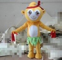 New 2017 Cartoon Character Adult cute little yellow monkey Mascot costume Fancy Dress party Costume