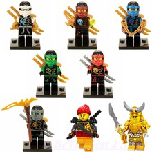 Legoing Ninjago Figures Jay Zane Kai JA002 JA035 Master Of The Golden Dragon Compatible Legoings movie Building Blocks Kids Toys(China)