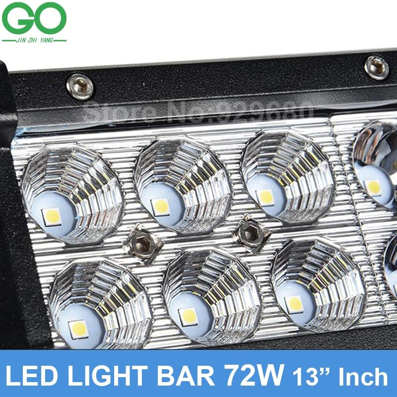 72W LED Work Light Bar Offroad Boat Car Tractor Truck 4x4 4WD SUV ATV 12V 24V Spot Flood Combo Beam Bridgelux Chip Strip Lights in Floodlights from Lights Lighting