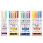 Japan ZEBRA Mildliner Light Double-headed Highlighter WKT7 Highlighter Marker Pen 5PCS/1SET