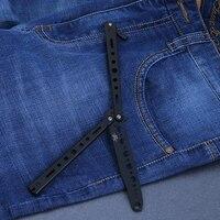 BALISONG באיכות גבוהה מתכת פרפר מאמן כלים סכין להב מתג פרפר סכין קפיצי פלדת צעצועי חידוש מתנה לילד