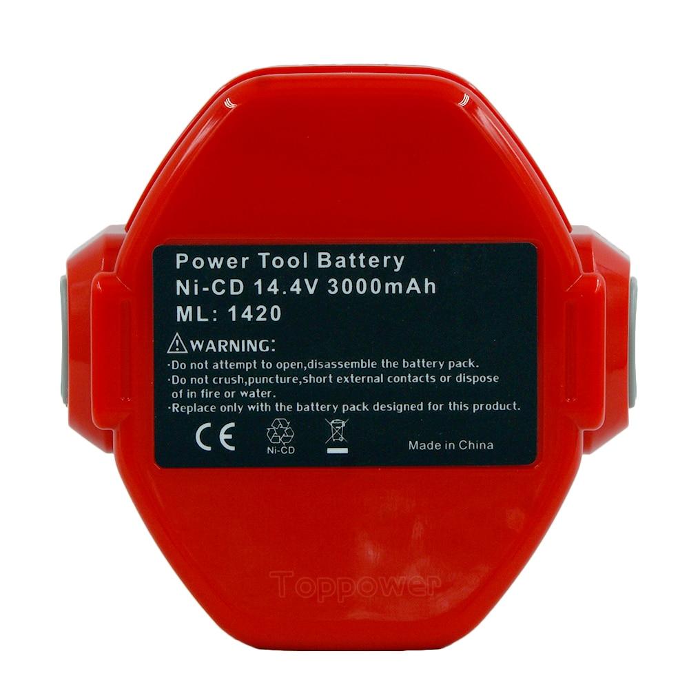 14 4V 3000mAh Ni CD Power Tools Rechargeable Batteriesfor Makita PA14 193158 3 1420 1422 1433