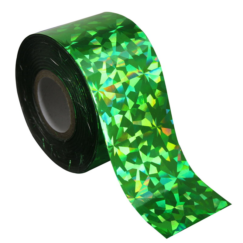 120m*4cm Green-Laser Nail Art Wraps Transfer Foil Nail Stickers Holographic Nail Foil Rolls Fingernail DIY Material Supply WY240 hot sale 20 sheets lot 20 4cm nail art transfer foil floral serial sexy black lace pattern nail sticker foil material diy wy188