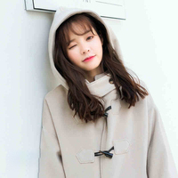 2018 Korea Południowa pogrubienie rogi klamry wełniany płaszcz kobiety płaszcz kurtka kobiety połowie długości to studenci jesienią i zimą wełna