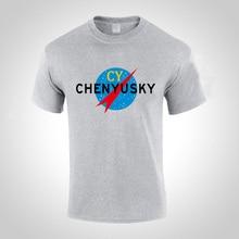 ФОТО s-xxxl hot chenyusky print fashion summer short sleeve t-shirt men and woman cotton comfortable male t shirt printed cy tops