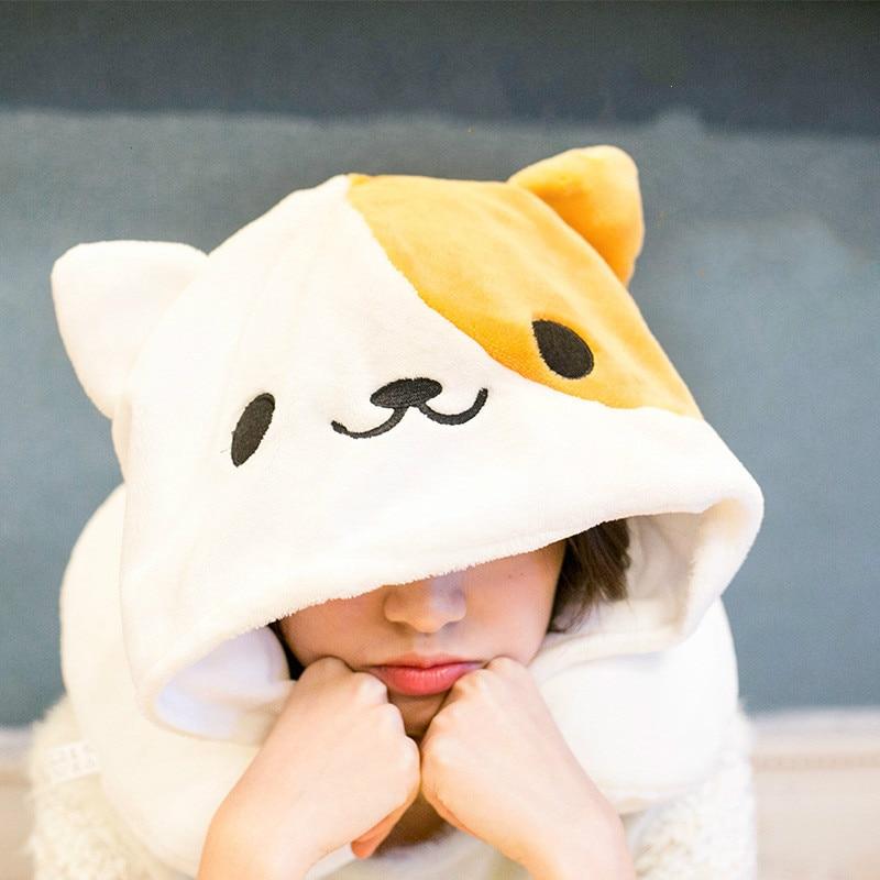 Cute Hoodie Cat Neck Pillow