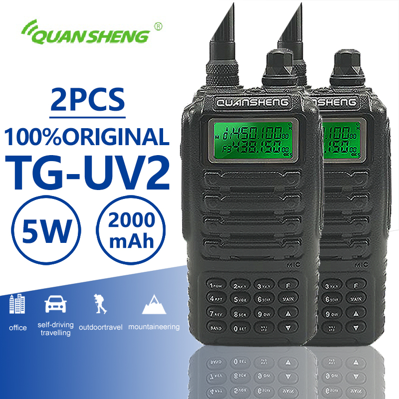 2 pcs Quansheng TG-UV2 Walkie Talkie Prosciutto Dual Band Vhf Uhf Mobile Radio PTT Palmare Interfono TG UV2 A Due Vie radio Transceiver2 pcs Quansheng TG-UV2 Walkie Talkie Prosciutto Dual Band Vhf Uhf Mobile Radio PTT Palmare Interfono TG UV2 A Due Vie radio Transceiver