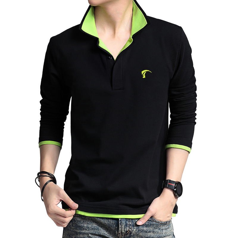 2016 POLO Mens Golf Apparel Long Sleeve Shirt Sports Uniforms Spring and Autumn Long Sleeve T-shirt Breathable Plus Size stylish plus size jewel collar half sleeve letter print t shirt for women