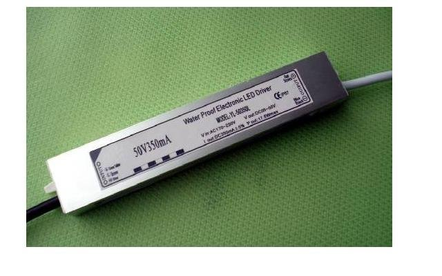 waterproof led constant current driver;AC90-250V input;output 350mA/17.5W;P/N:YL-50350L