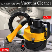 90W Auto Car Portable Vacuum Cleaner Wet Dry Hand Held Wall Mount Garage Blower Vac For Smart Home Device Car Boatb Yellow