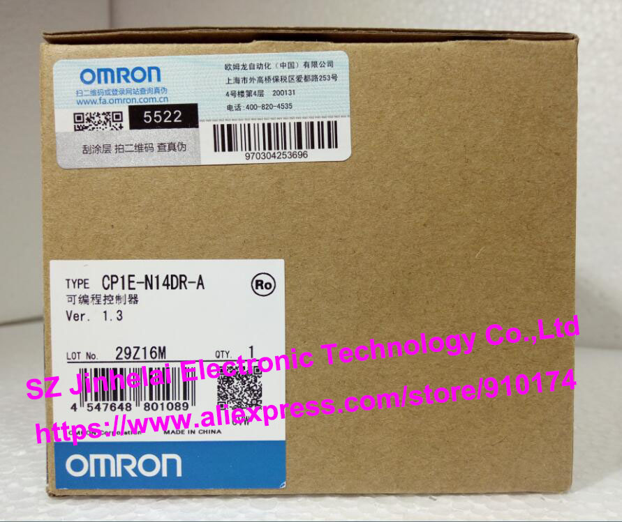 New and original CP1E-N14DR-A  OMRON  Programmable controller [zob] 100% brand new original authentic omron omron photoelectric switch e2s q23 1m 2pcs lot