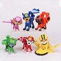 6 шт./компл. Flying dog патруль лай команда украшения декоративные детские игрушки Куклы украшения винил кукла 5 см детские игрушки для детей подарок