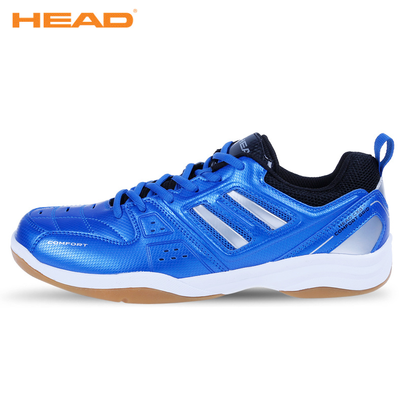 HEAD New Light Badminton Shoes for Men Breathable Anti Slippery Tennis Sneakers Lace up Sport Shoes