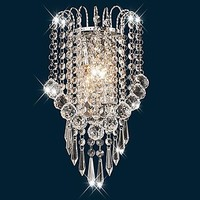 Artistic Stainless Steel Plating Modern Led Crystal Wall Light Lamp For Home Wall Sconce Free Shipping