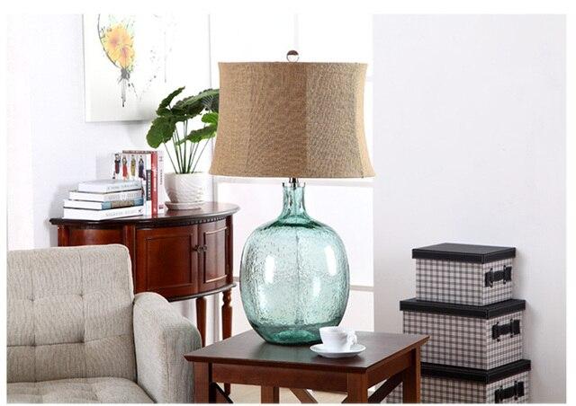 Luxury Modern Blue Bubble Glass Table Lamp 110V 220V Luxury Bedroom Bedside Lamp  Glass Decoration Lamp
