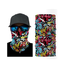 цена на 3D Camouflage Bandana Multifunctional Headwears Transparent Neck Warmer Outdoor Motorcycle Bike Multi Masks Scarf Half Mask