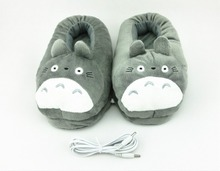 Cute Feet Warmer Cartoon Animation Plush USB Foot Warmer Shoes Electric Heat Slipper USB  Warmer Shoes Electric Heat Slipper