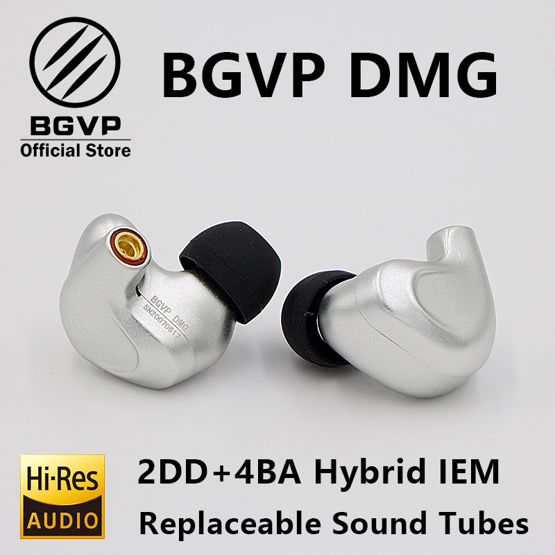 Image 4 - BGVP DMG HIFI Earphone 2DD+4BA Hybrid IEM Technology in ear types with MMCX replaceable cable design aluminium alloy shell-in Phone Earphones & Headphones from Consumer Electronics