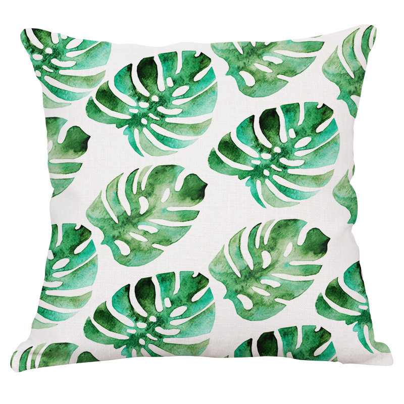 Yaşıl yarpaqlar Tropik Bitkilər Banan Yarpaqları Canna Monstera - Ev tekstil - Fotoqrafiya 6