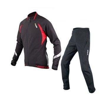 Зимние непромокаемые ветрозащитный велосипед одежда синий черный XXXL Цикл Одежда большого размера из плотного флиса с длинным рукавом Джер