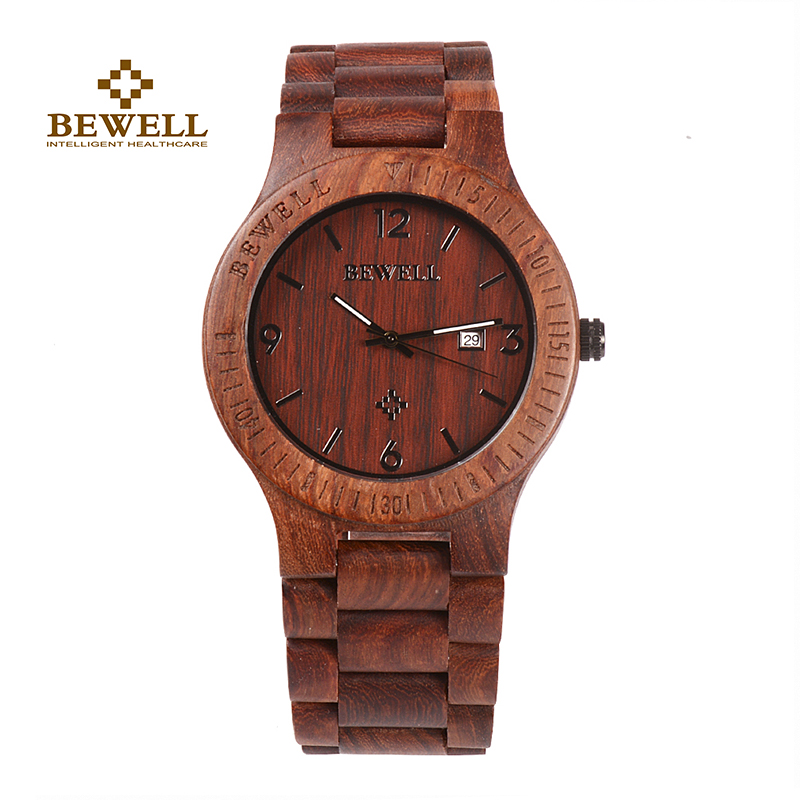 цена BEWELL Men 's Watch Luxury Brand Independent Design Watch Fashion Wooden Watch Bracelet Bamboo Watch Men' s Latest 2017 clock онлайн в 2017 году