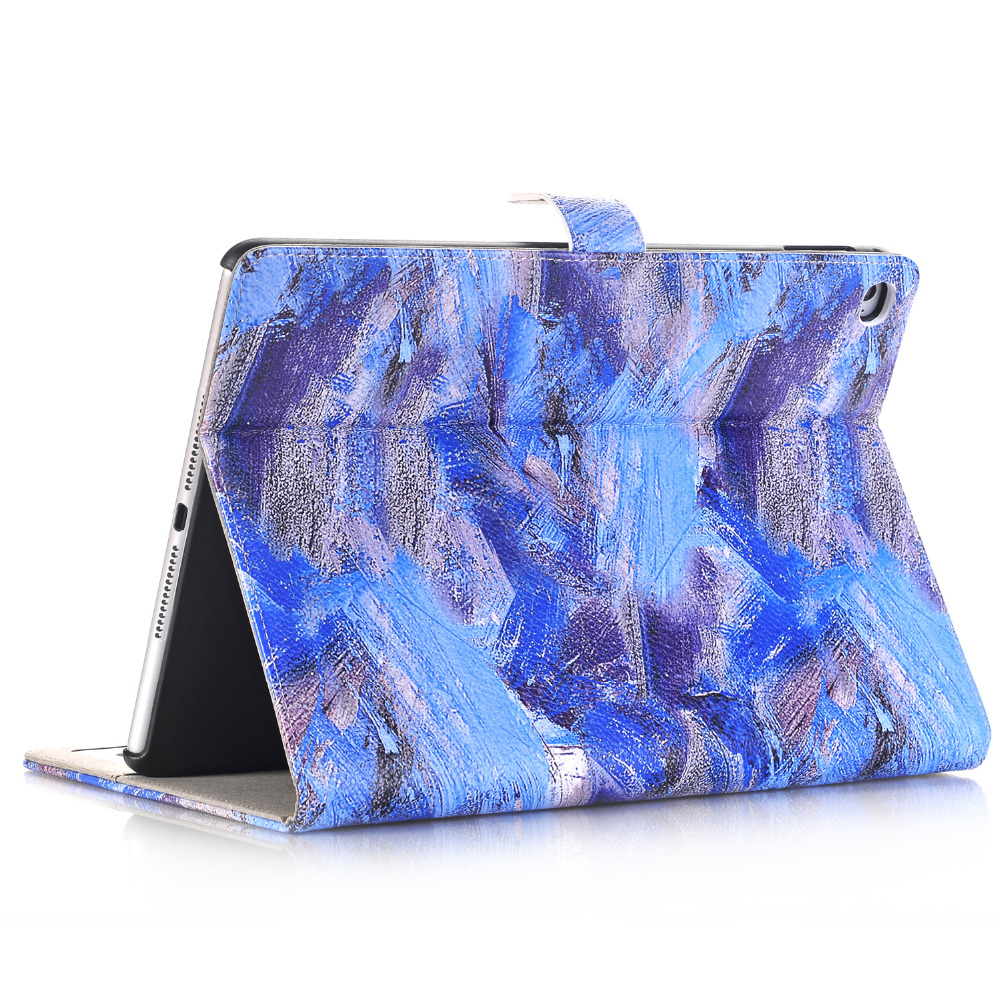 все цены на  Ultra Slim Graffiti Print Stand PU Leather Magnetic Smart Sleep Wake Protective Cover Case For Apple iPad Pro 12.9 inch Tablet  онлайн