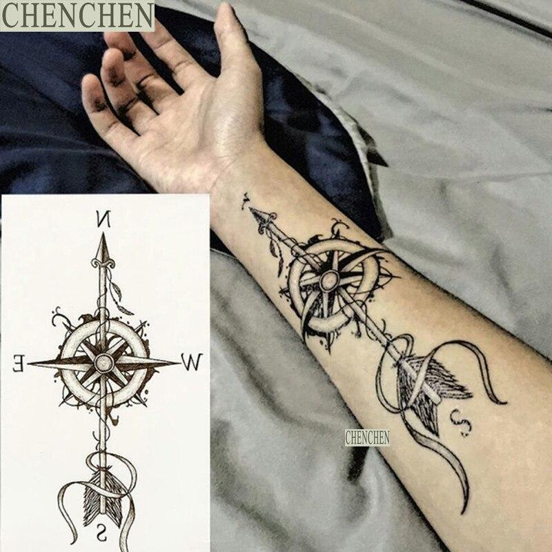 Etiqueta Engomada Del Tatuaje Temporal Para El Arte De Cuerpo Negro
