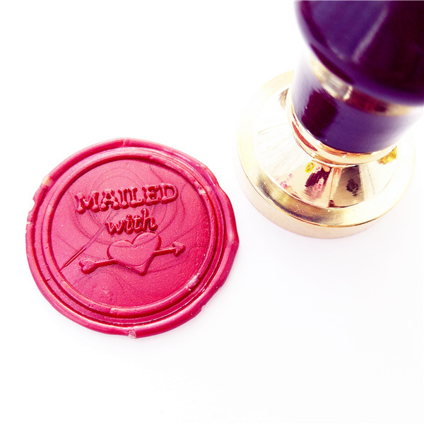 Mailed with love heart Wedding inivatition * Anniversary Wax Seal Stamp | couple monogram | Sealing Wax Stamp | Wax Stamp love love love 50th anniversary mono edition