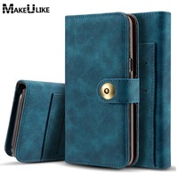 Luxury Wallet Case For Samsung Galaxy S8 S8Plus PU Leather Magnetic Back Cover Flip Phone Cases