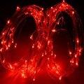 Luzes de fadas 5 m LED Micro Fio de Prata Partido Fada Cordas Xmas Splendid Casamento Luz 12 V Luzes Da Corda Do Pátio