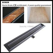 """900mm """"TILE INSERT"""" Stainless Steel 304 Linear Shower Drain, Horizontal Outlet Hidden Drain, Tile Insert Deodorant floor drain"""
