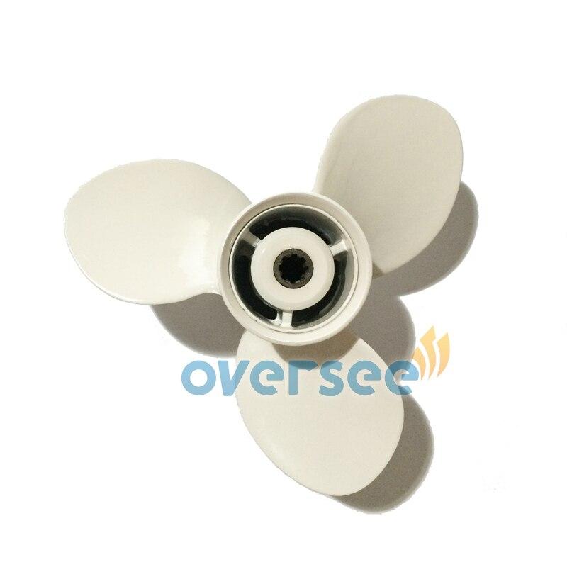 OVERSEE Aluminum Propeller size 9-1/4x10-1/2  For Yamaha Outboard Motor 9.9HP 15HP 683-45943-00 yamaha 9 9 fmhs в красноярске