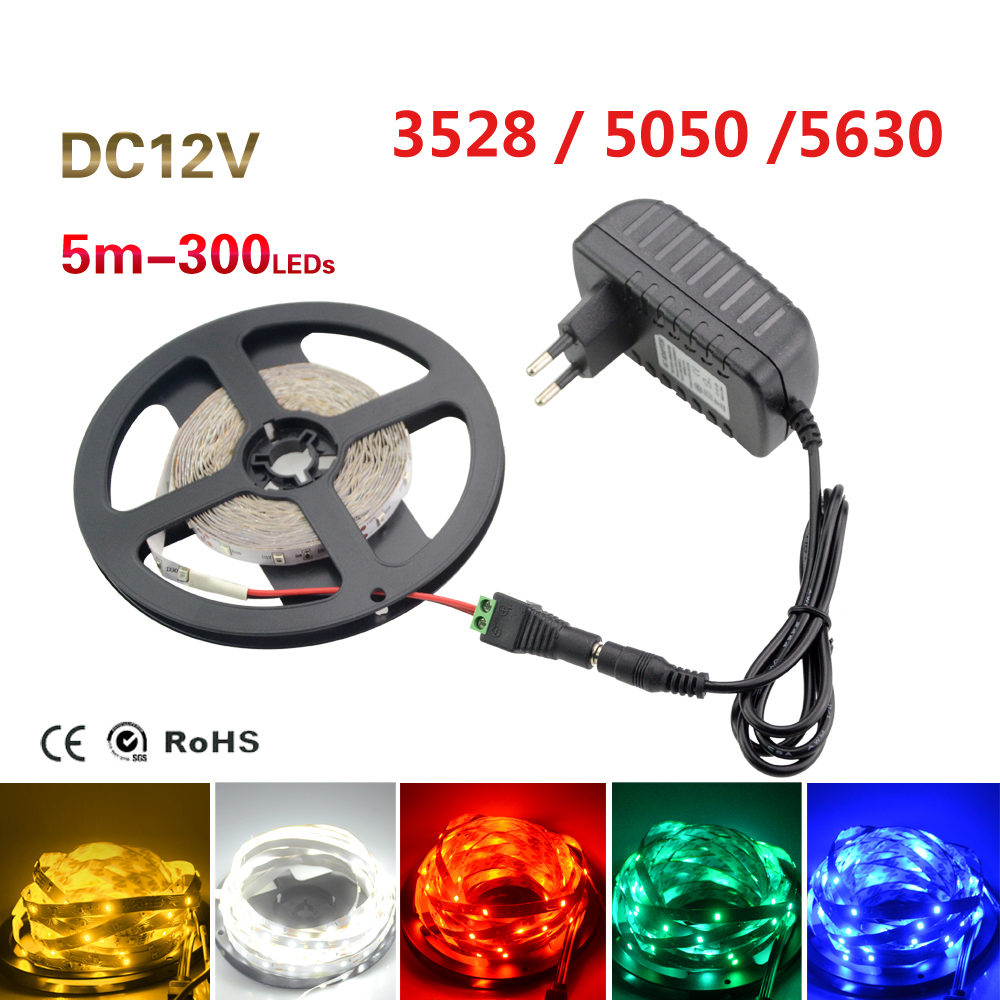 5m led strip light non waterproof smd 3528 5630 5050 fita - Tiras de led exterior ...