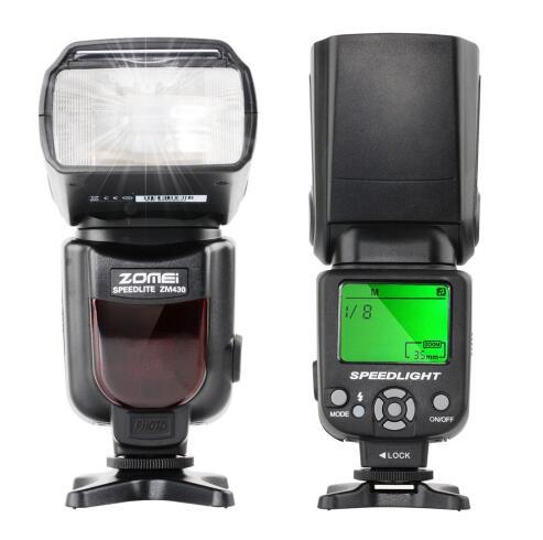 Zomei Sans Fil Mini Flash ZM430 Speedlite pour Pentax Canon et Nikon, Hot Shoe Flash, Speedlite, Photo Flash