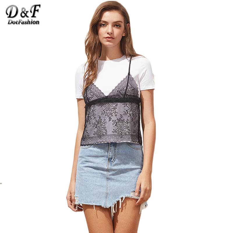 Women clothes lace clearance for tops cami jill knit