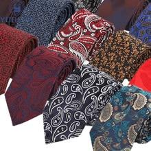 Hot Sale 7CM Men's Ties Polyester Silk Floral Plaid Dot Formal Bridegroom Wedding Business Necktie Classic Neck tie Accessories