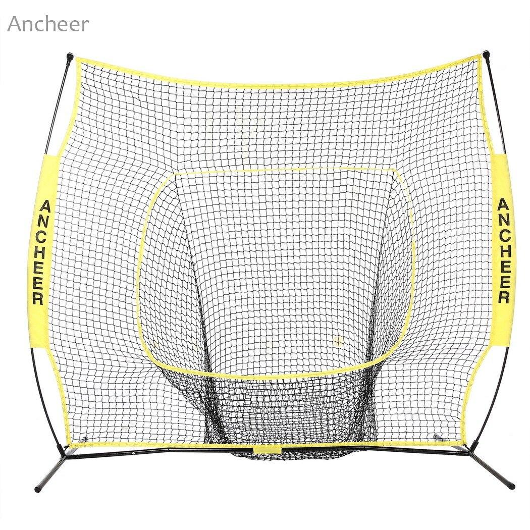 Durable 7 x 7ft Softball Baseball Netto Pratica con L'arco Telaio Compatto Borsa Per Il Trasporto Softball Training Net Outdoor Training