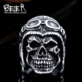 Beier new store 316L Stainless Steel ring high quality  skull ring for men  fashion jewelry BR8-395