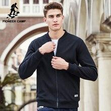Pioneer Camp Neue schwarz dickes fleece hoodies männer marke kleidung feste beiläufige reißverschluss sweatshirt männliche qualität 100% baumwolle 622215