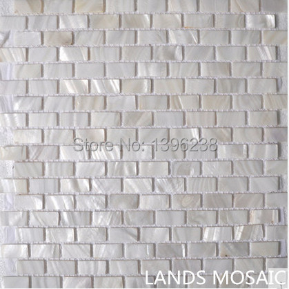 Mother of Pearl brick Supper White Natural White Shell Mosaic Tiles,Kitchen Backsplash Bathroom Home wall decor sticker,LSBK12 rhombus sea shell mosaic tiles mother of pearl seamless natural shell color kitchen bathroom wall mosaics tile free shipping