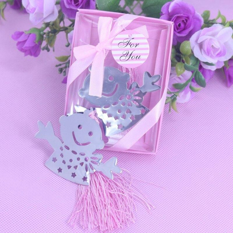 50 Bulk Blue Pink Snowman Children Bookmark Bridal Baby Shower