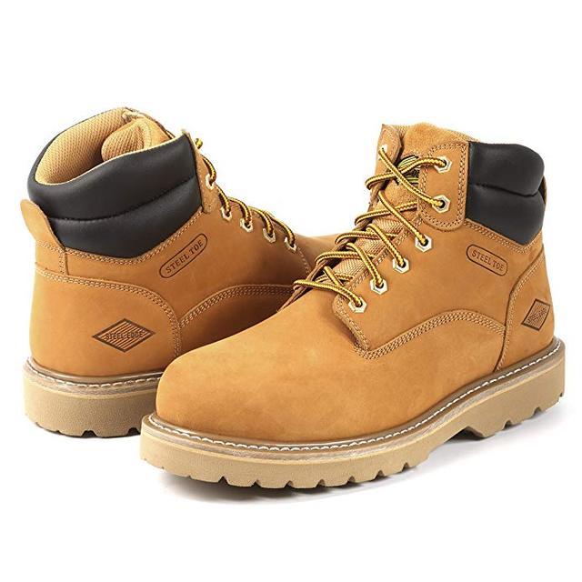 Botas de trabajo punta acero para hombres zapatos seguridad antideslizantes y botas peligro eléctrico