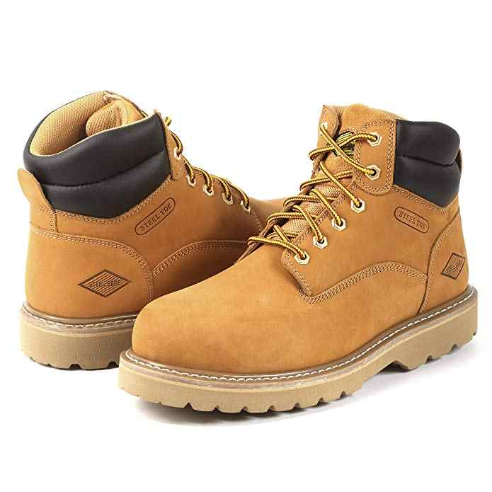 Steel Toe Work Boots for Men Safety