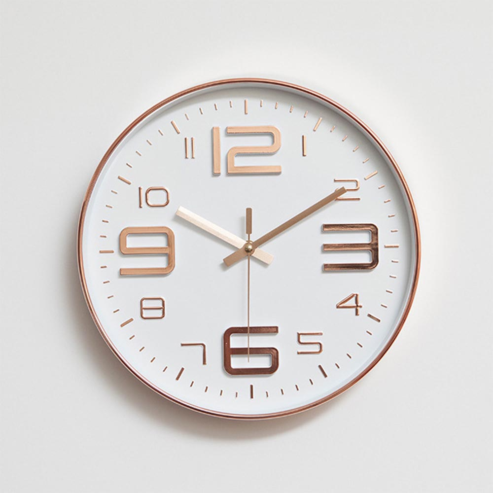 Modern Simple Wall Clocks Living Room Round Thin Box Home  Decoration Wall Clock Bedroom Quiet Clockhome decor wall clocksimple  wall clockwall clock